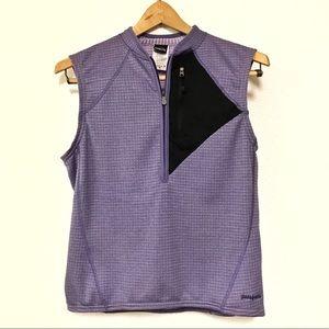 Patagonia Polartec Quarter Zip Purple Vest Size M